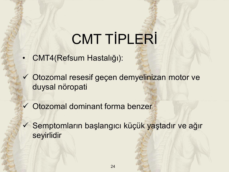 CMT TİPLERİ CMT4(Refsum Hastalığı):