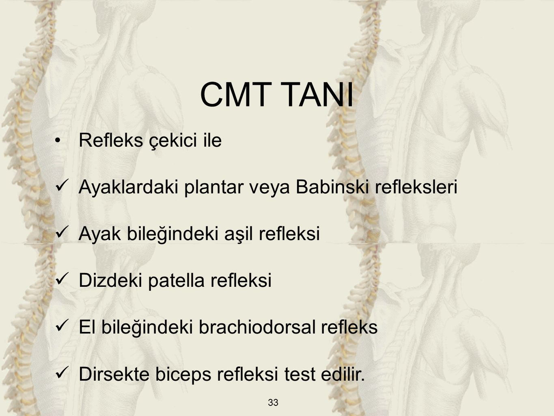 CMT TANI Refleks çekici ile