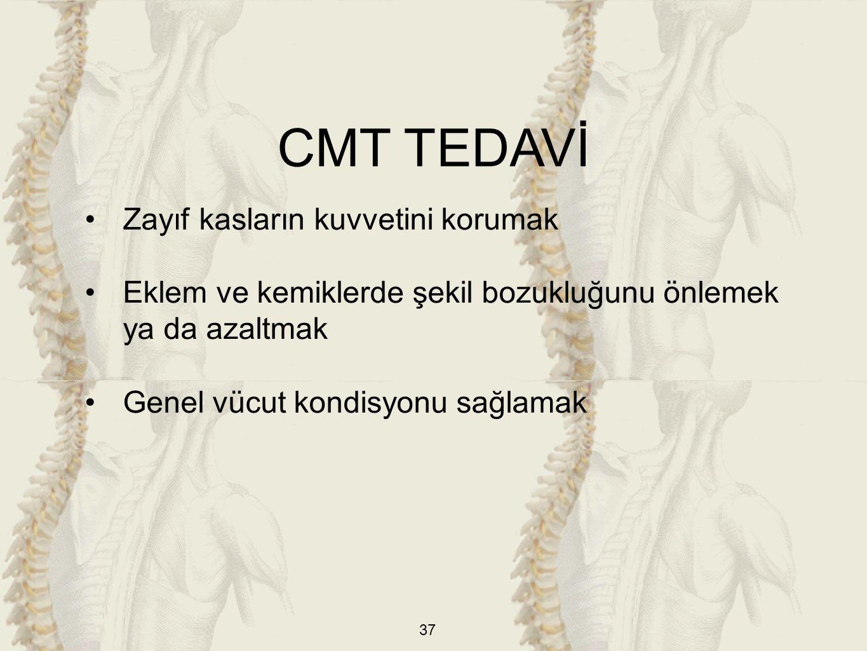CMT TEDAVİ Zayıf kasların kuvvetini korumak