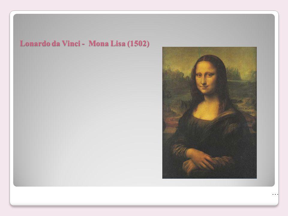 Lonardo da Vinci - Mona Lisa (1502)