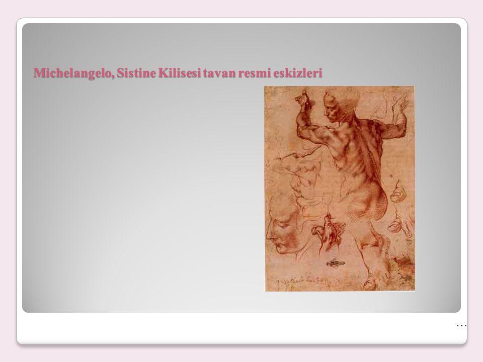 Michelangelo, Sistine Kilisesi tavan resmi eskizleri
