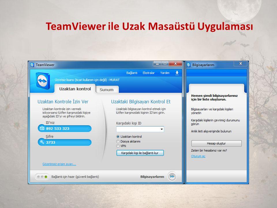 TeamViewer ile Uzak Masaüstü Uygulaması