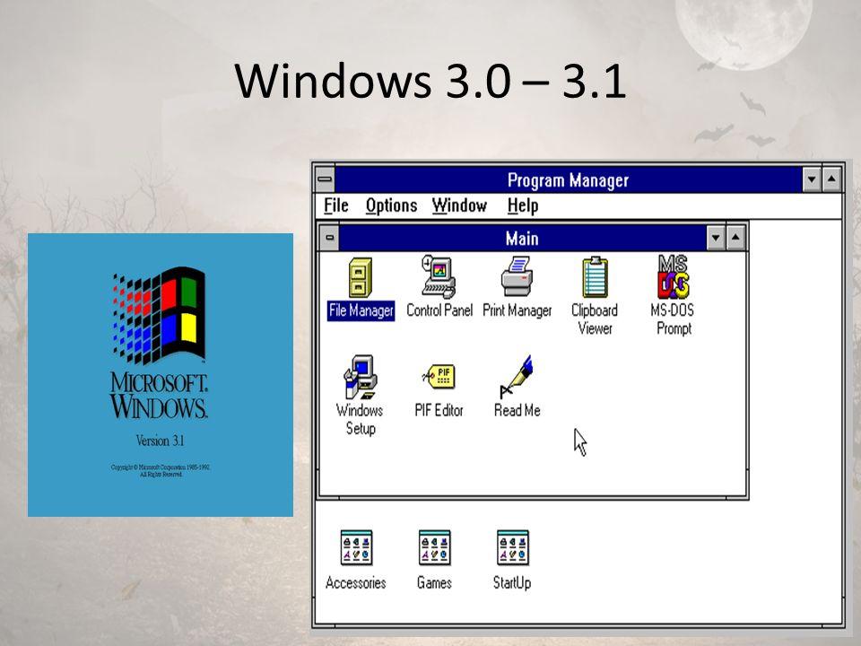 Windows 3.0 – 3.1