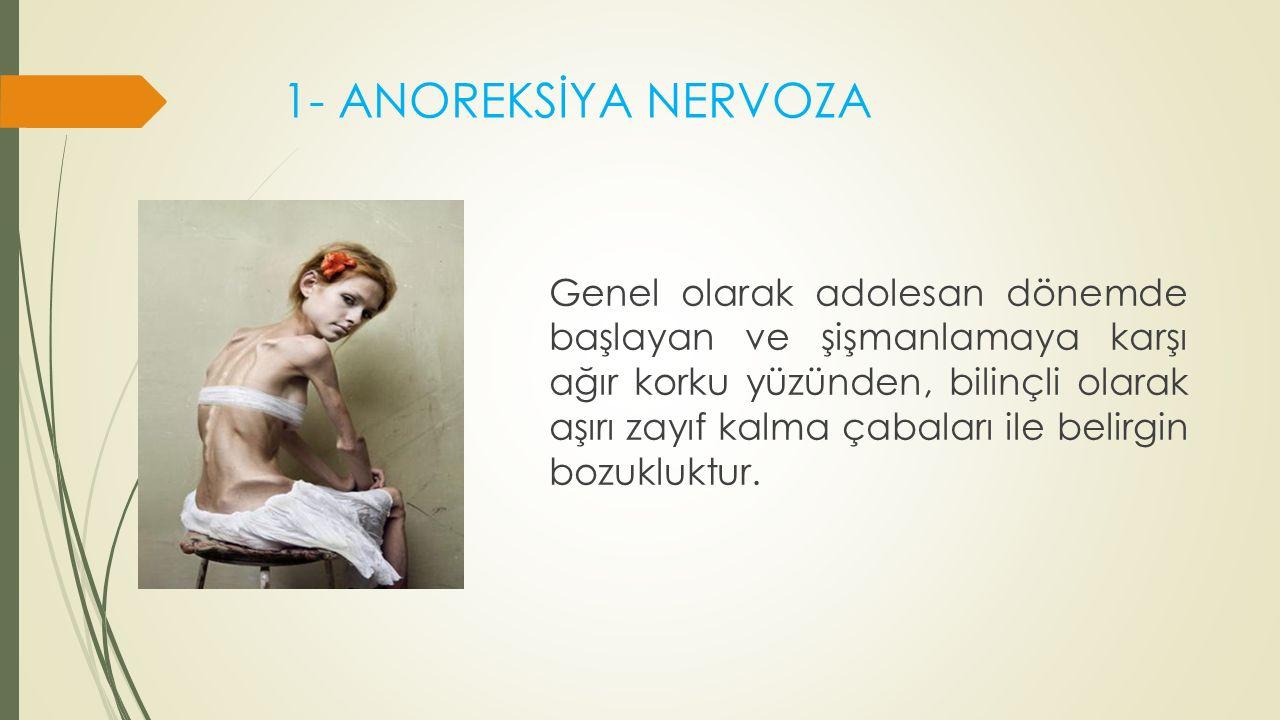 1- ANOREKSİYA NERVOZA