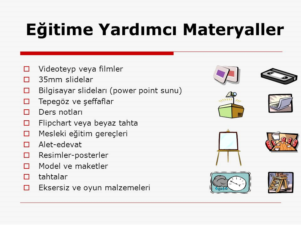 Eğitime Yardımcı Materyaller