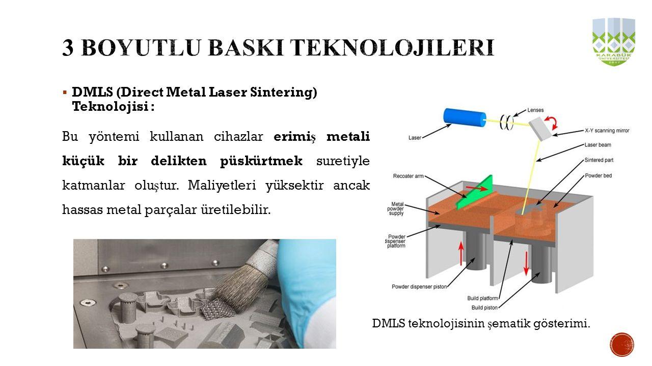 3 boyutlu BASKI teknolojileri