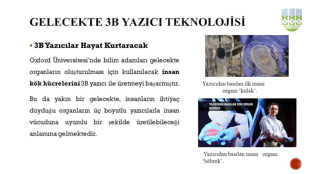 GELECEKTE 3B YAZICI TEKNOLOJİSİ