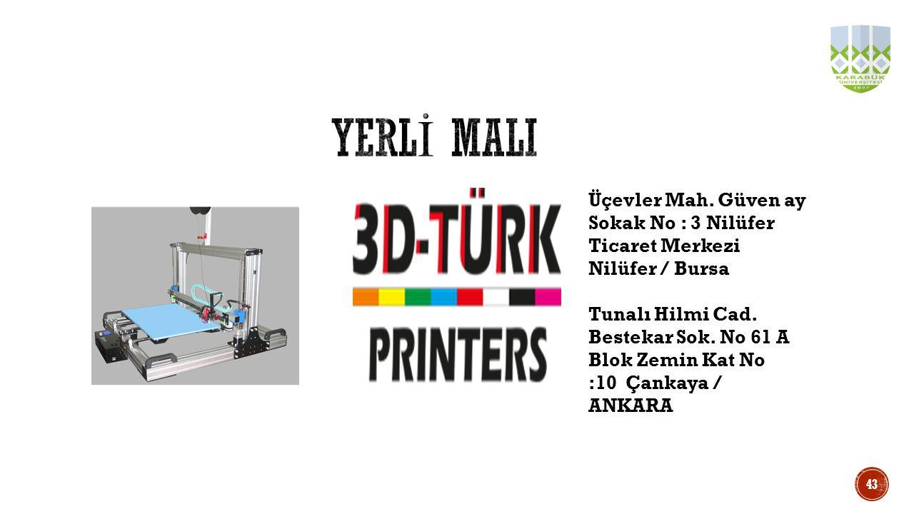 YERLİ MALI Üçevler Mah. Güven ay Sokak No : 3 Nilüfer Ticaret Merkezi Nilüfer / Bursa.