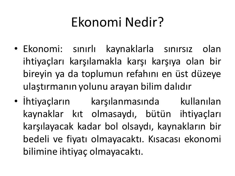 Ekonomi Nedir