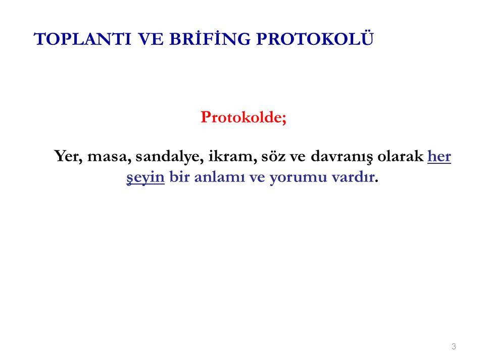 TOPLANTI VE BRİFİNG PROTOKOLÜ