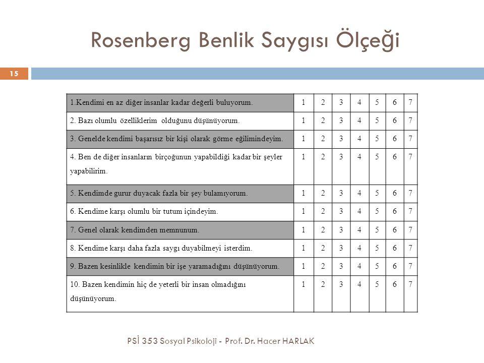 Rosenberg Benlik Saygısı Ölçeği