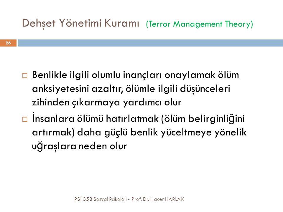 Dehşet Yönetimi Kuramı (Terror Management Theory)