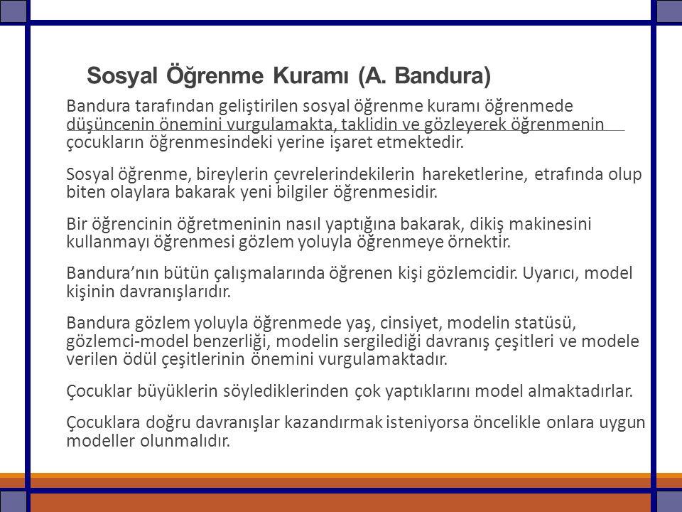 Sosyal Öğrenme Kuramı (A. Bandura)