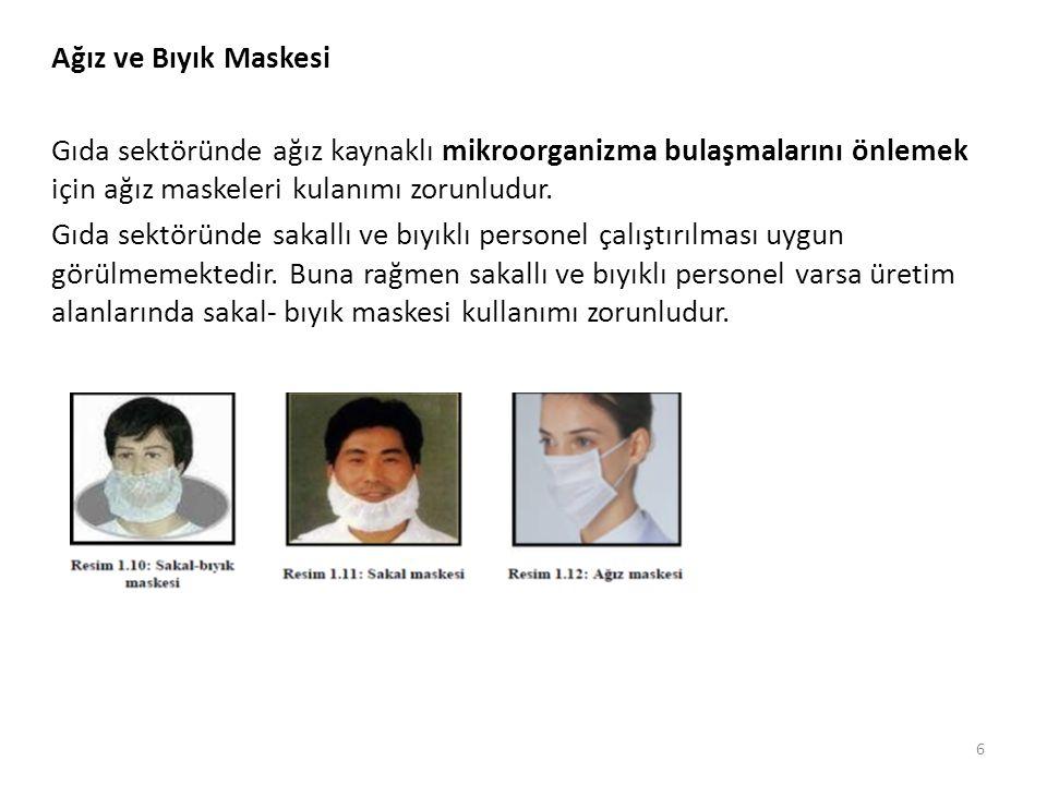 Ağız ve Bıyık Maskesi Gıda sektöründe ağız kaynaklı mikroorganizma bulaşmalarını önlemek için ağız maskeleri kulanımı zorunludur.
