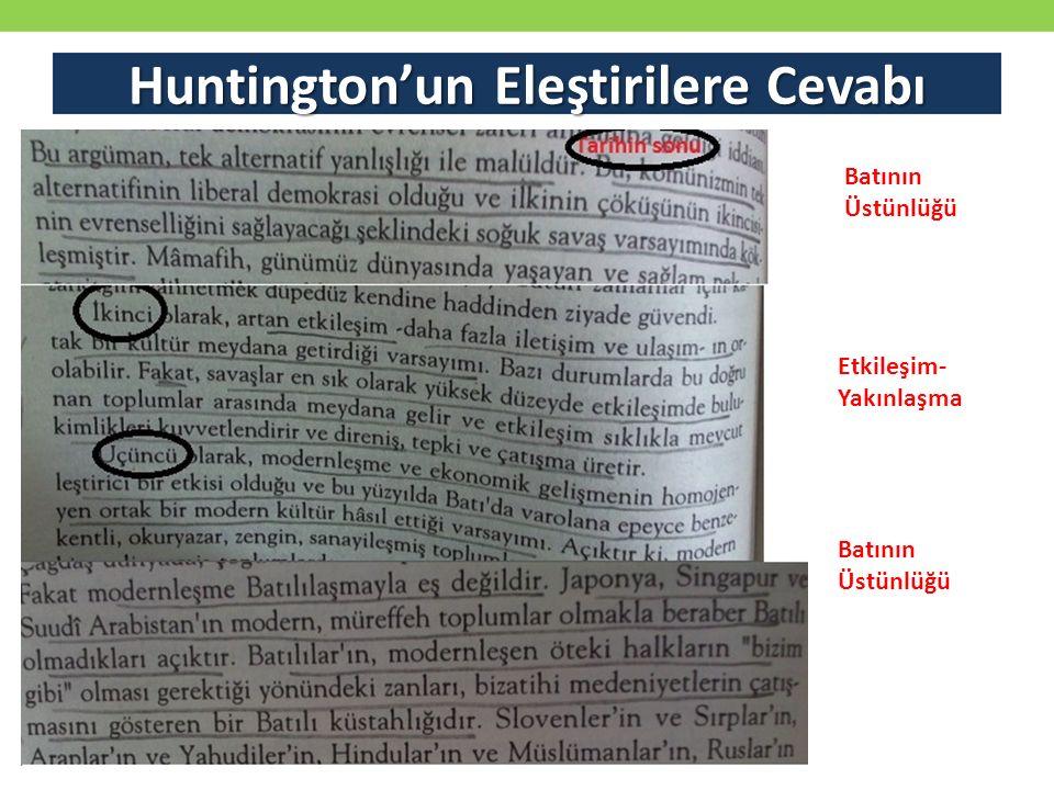 Huntington'un Eleştirilere Cevabı