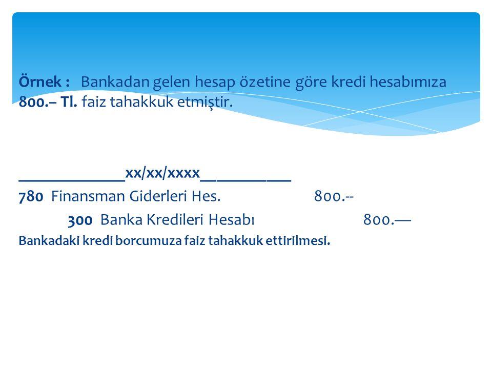 _____________xx/xx/xxxx___________ 780 Finansman Giderleri Hes. 800.--