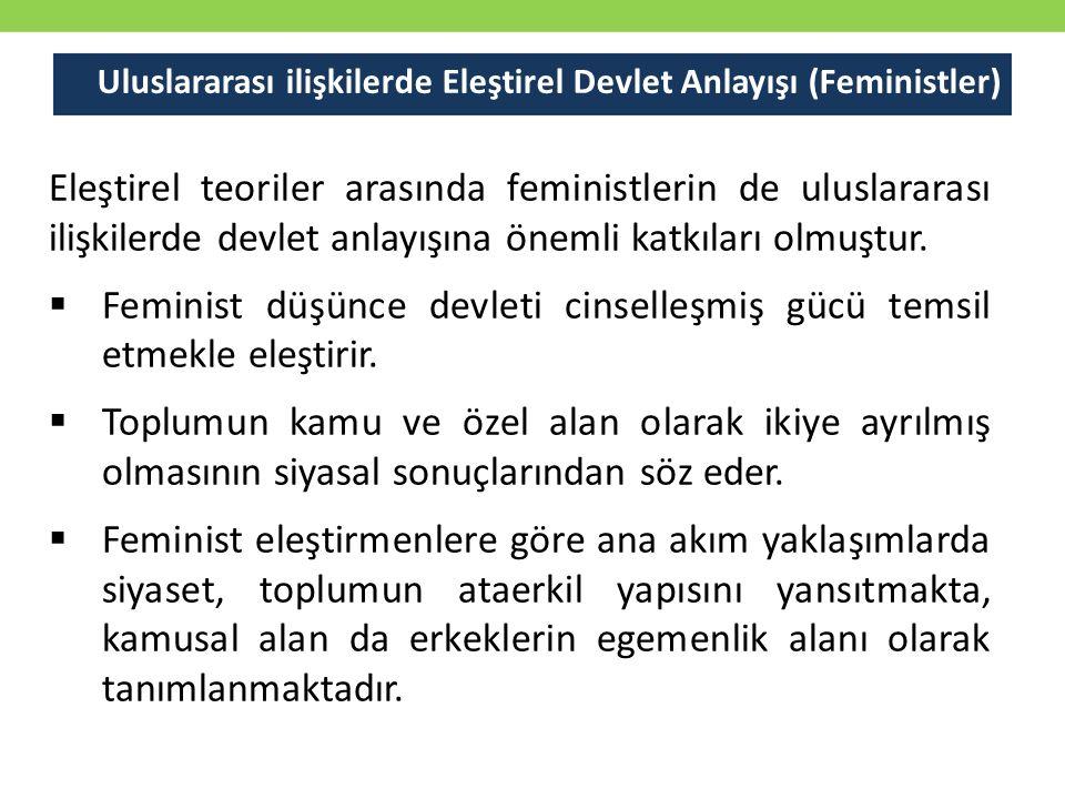 Uluslararası ilişkilerde Eleştirel Devlet Anlayışı (Feministler)