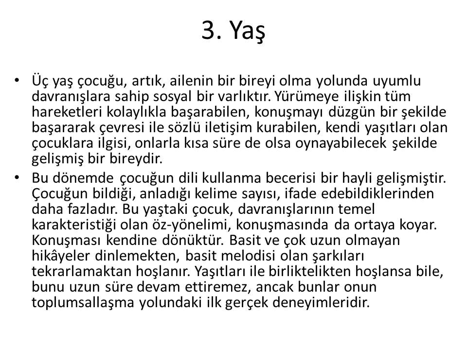 3. Yaş