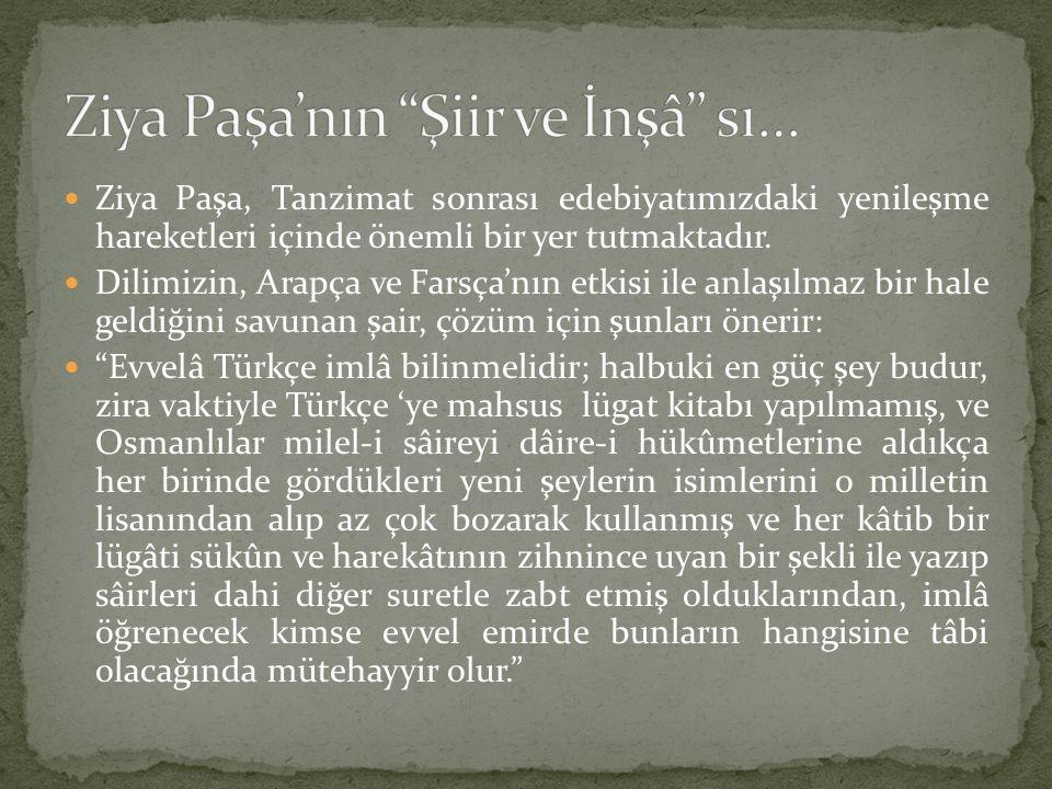 Ziya Paşa'nın Şiir ve İnşâ sı…