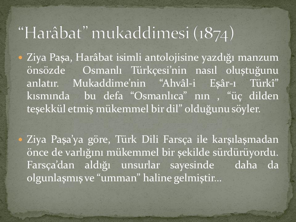 Harâbat mukaddimesi (1874)