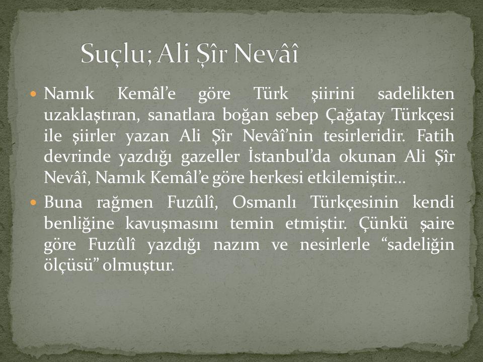 Suçlu; Ali Şîr Nevâî