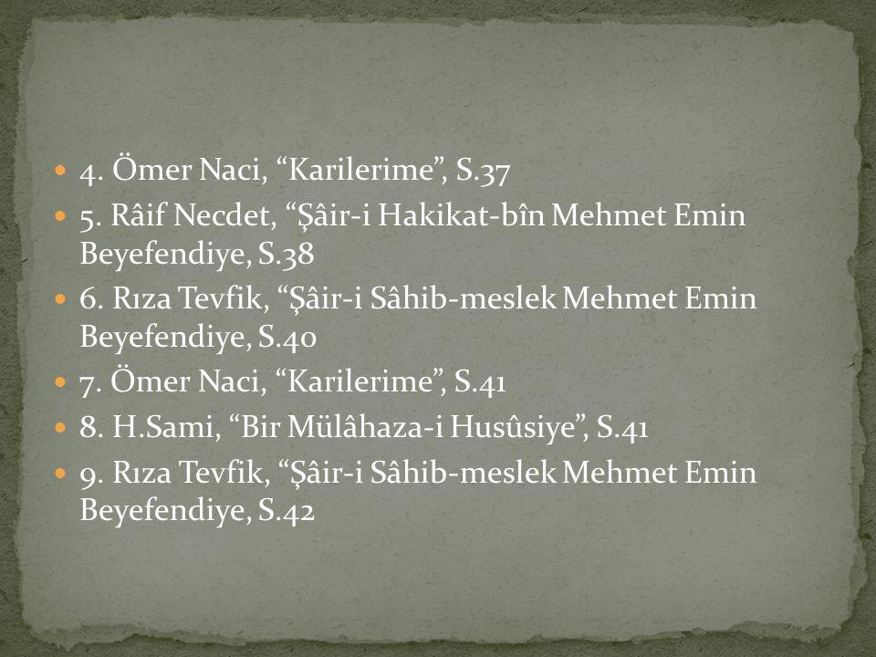 4. Ömer Naci, Karilerime , S.37