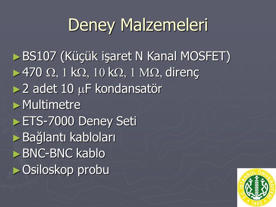 Deney Malzemeleri BS107 (Küçük işaret N Kanal MOSFET)