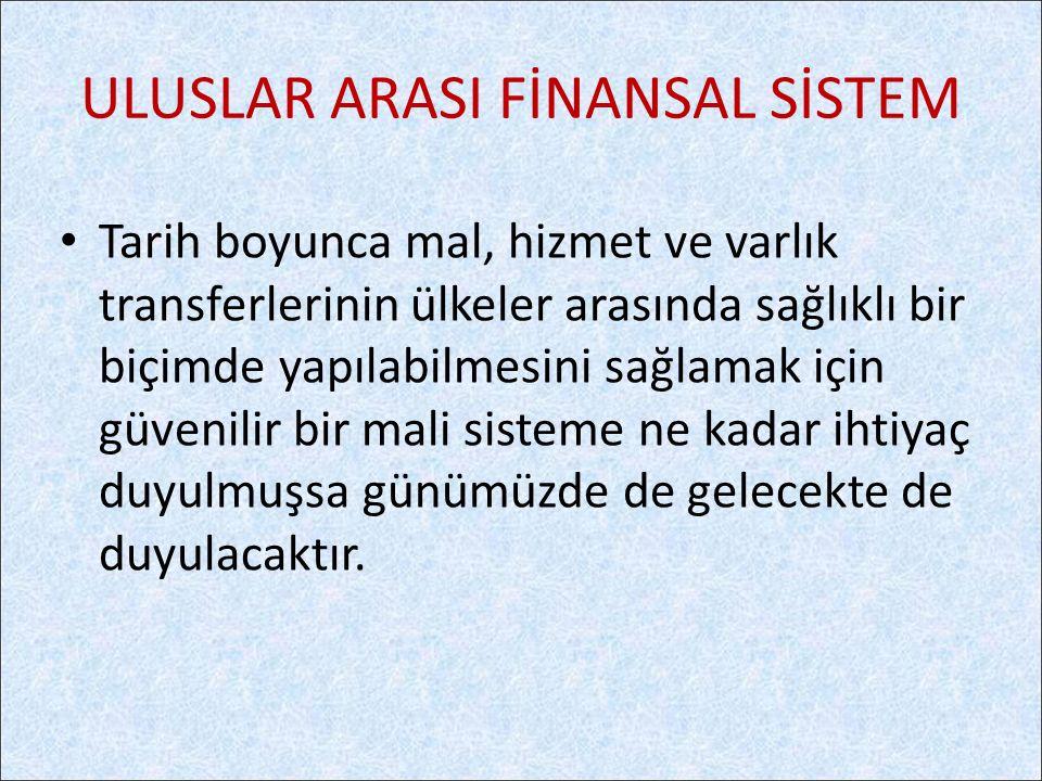 ULUSLAR ARASI FİNANSAL SİSTEM