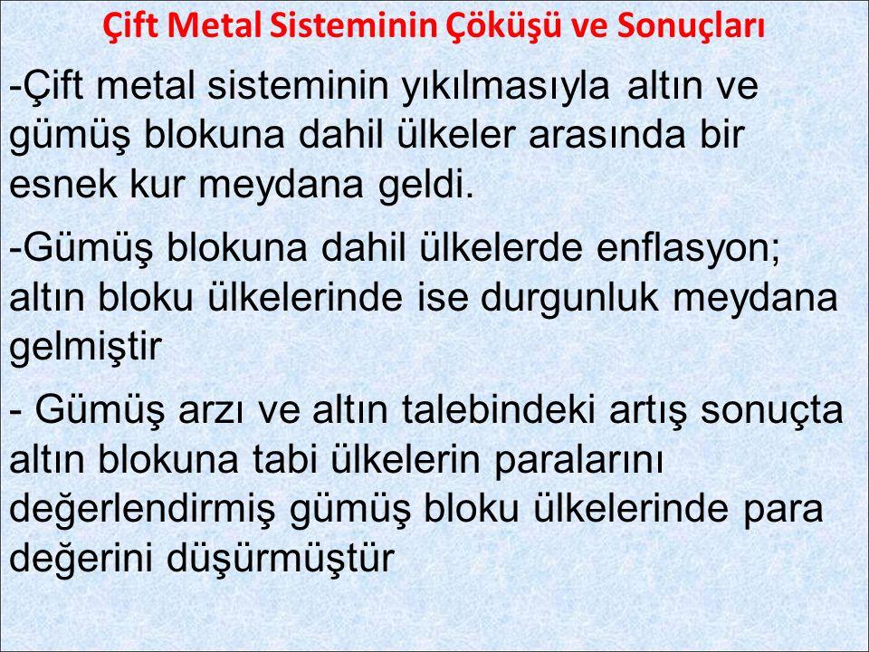Çift Metal Sisteminin Çöküşü ve Sonuçları