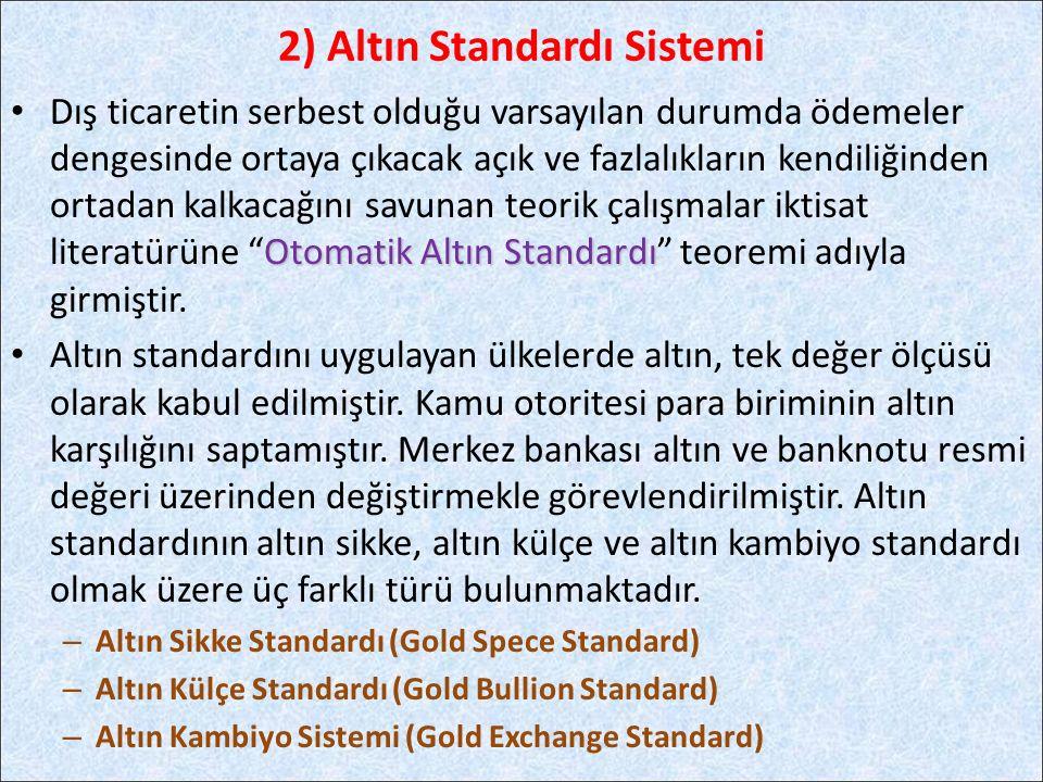 2) Altın Standardı Sistemi