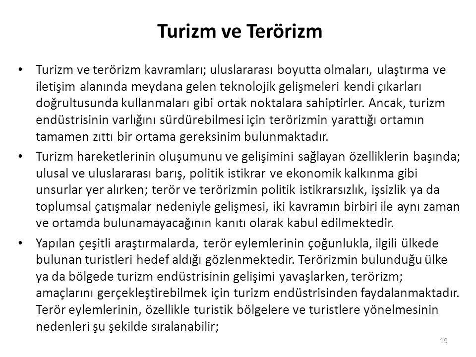 Turizm ve Terörizm