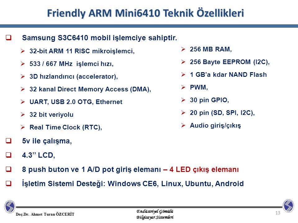Friendly ARM Mini6410 Teknik Özellikleri