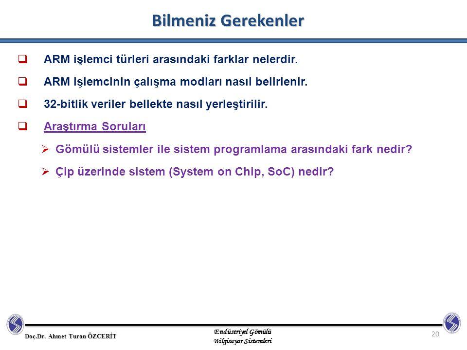 Bilmeniz Gerekenler ARM işlemci türleri arasındaki farklar nelerdir.