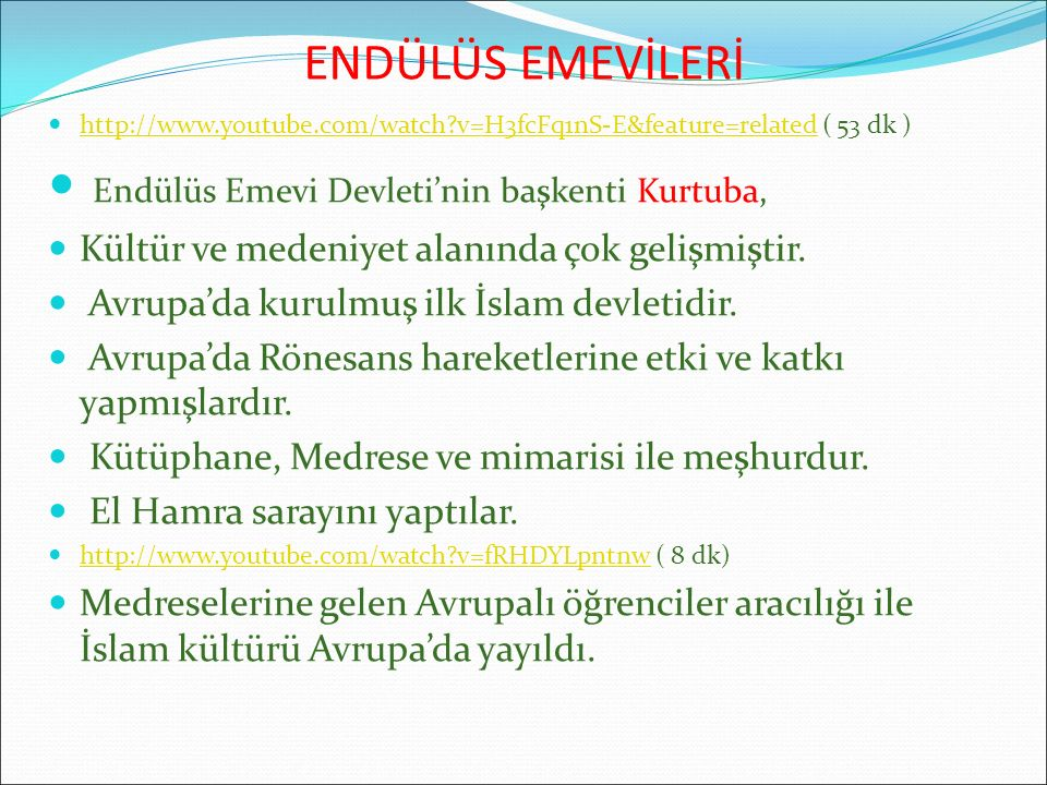 Endülüs Emevi Devleti'nin başkenti Kurtuba,