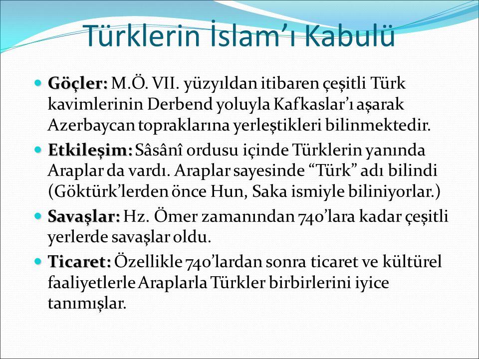 Türklerin İslam'ı Kabulü