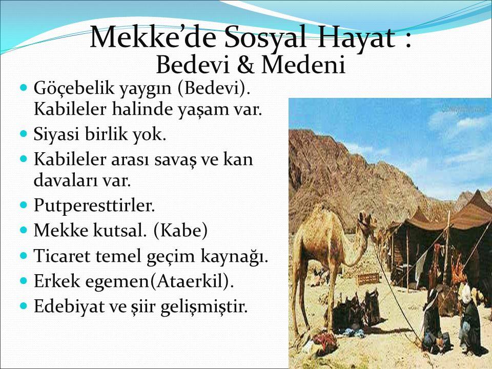 Mekke'de Sosyal Hayat :