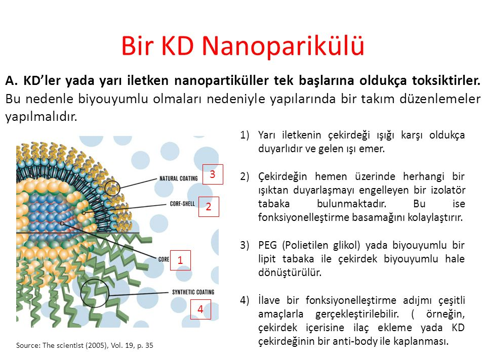 Bir KD Nanoparikülü