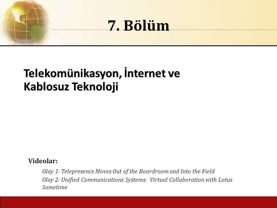 Telekomünikasyon, İnternet ve Kablosuz Teknoloji