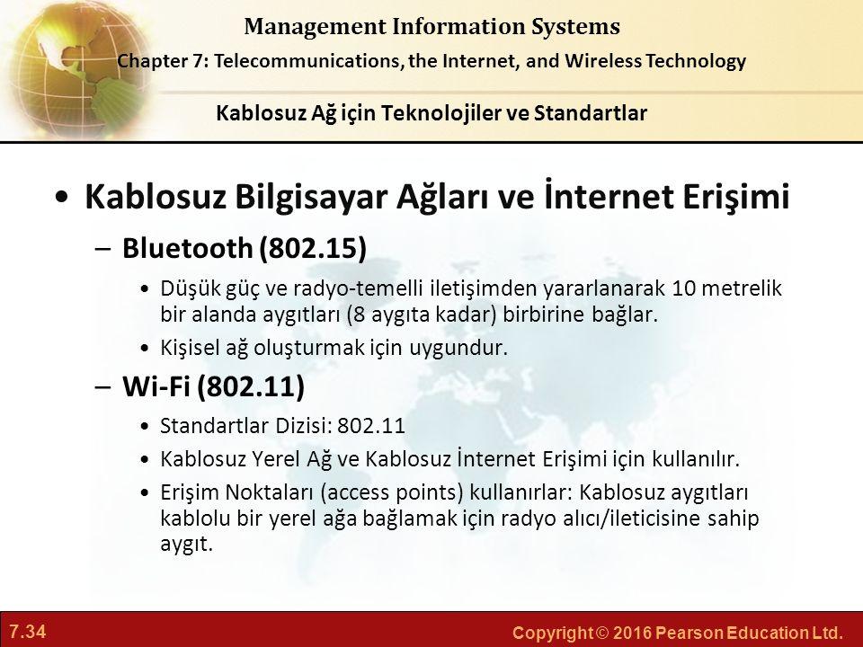 Kablosuz Ağ için Teknolojiler ve Standartlar