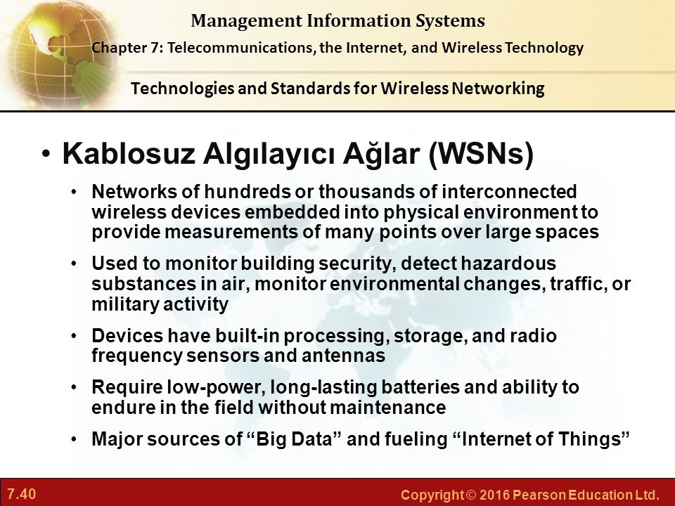 Technologies and Standards for Wireless Networking