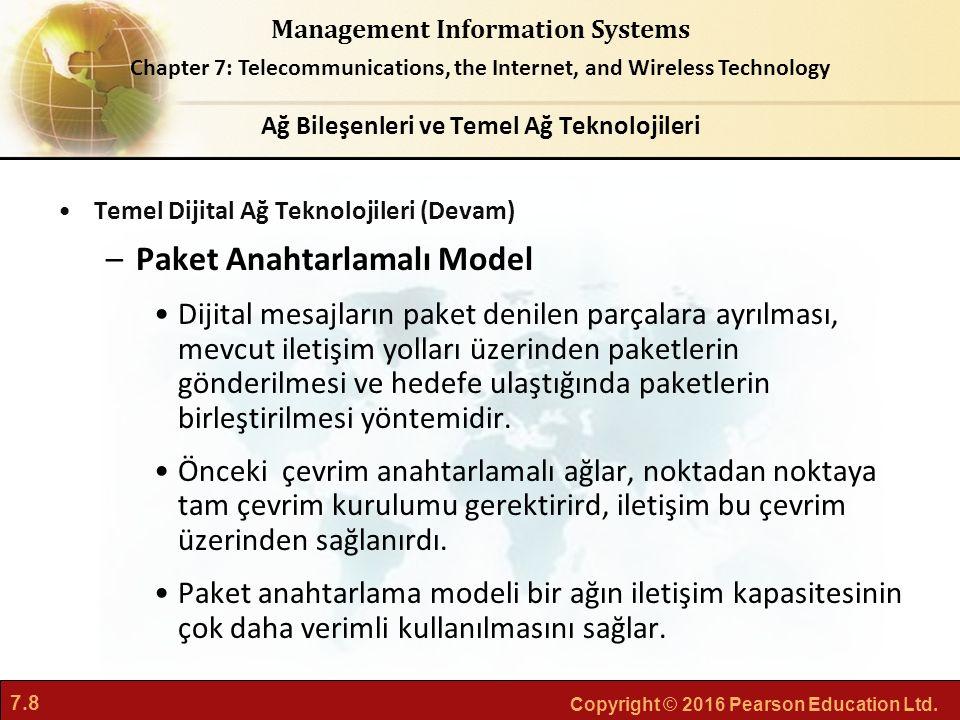 Ağ Bileşenleri ve Temel Ağ Teknolojileri