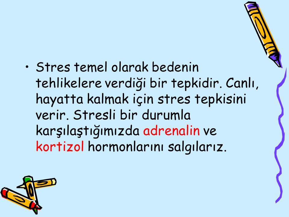 Stres temel olarak bedenin tehlikelere verdiği bir tepkidir