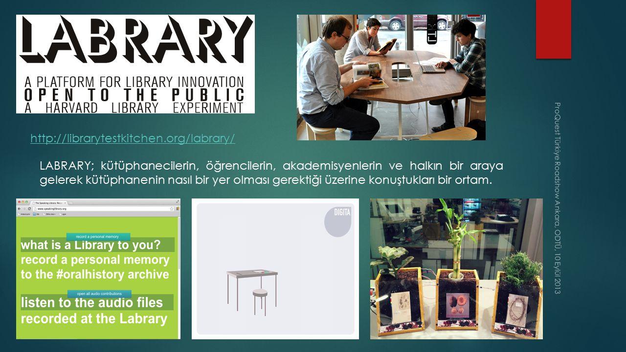 ProQuest Türkiye Roadshow Ankara, ODTÜ, 10 Eylül 2013