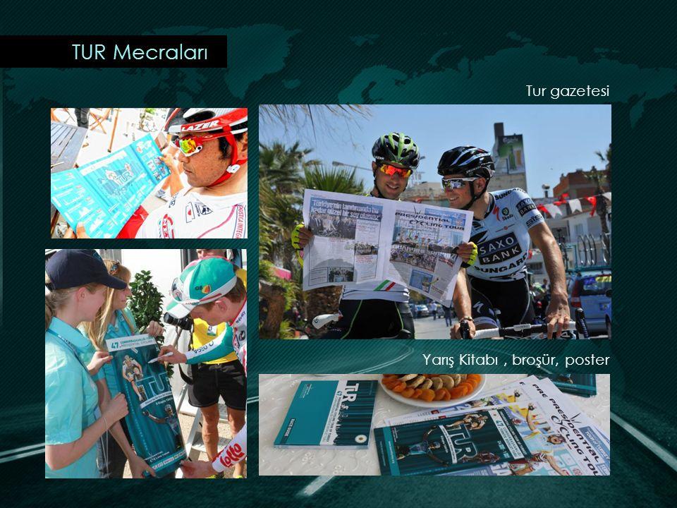 TUR Mecraları Tur gazetesi Yarış Kitabı , broşür, poster