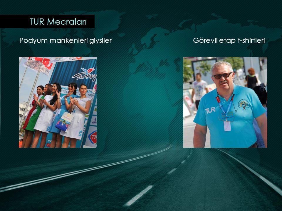 TUR Mecraları Podyum mankenleri giysiler Görevli etap t-shirtleri