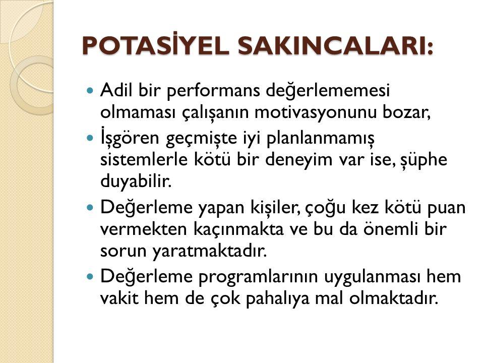 POTASİYEL SAKINCALARI: