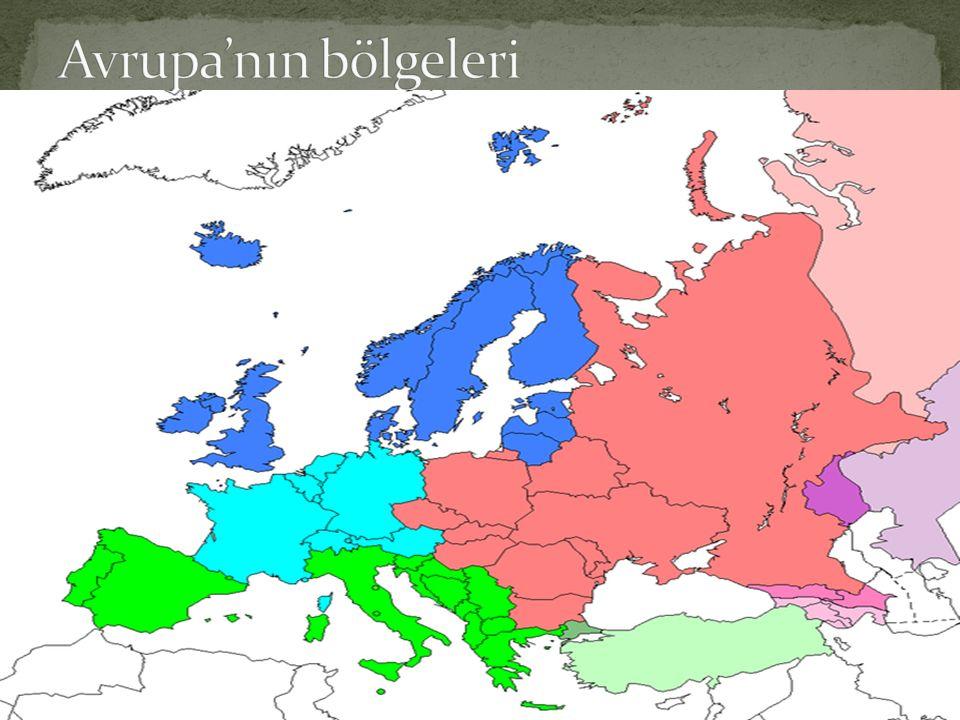 Avrupa'nın bölgeleri