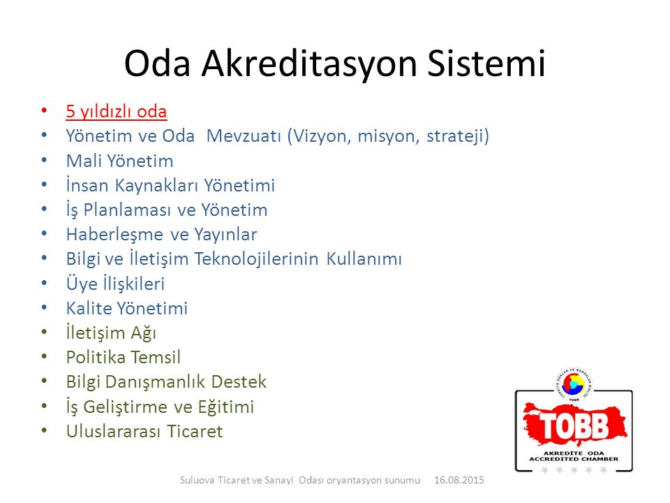Oda Akreditasyon Sistemi