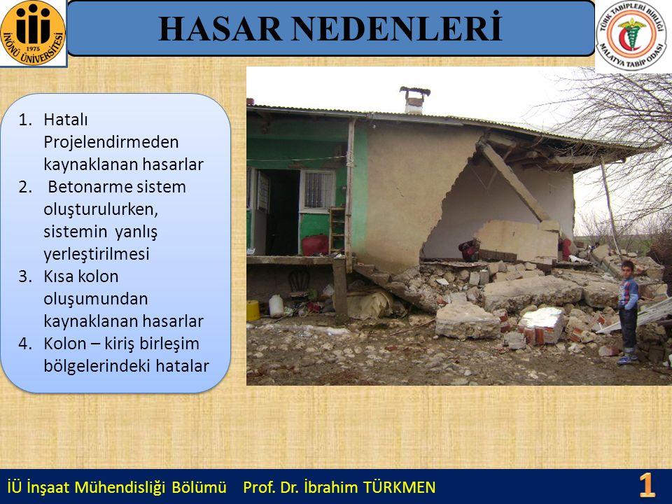 1010 HASAR NEDENLERİ Hatalı Projelendirmeden kaynaklanan hasarlar