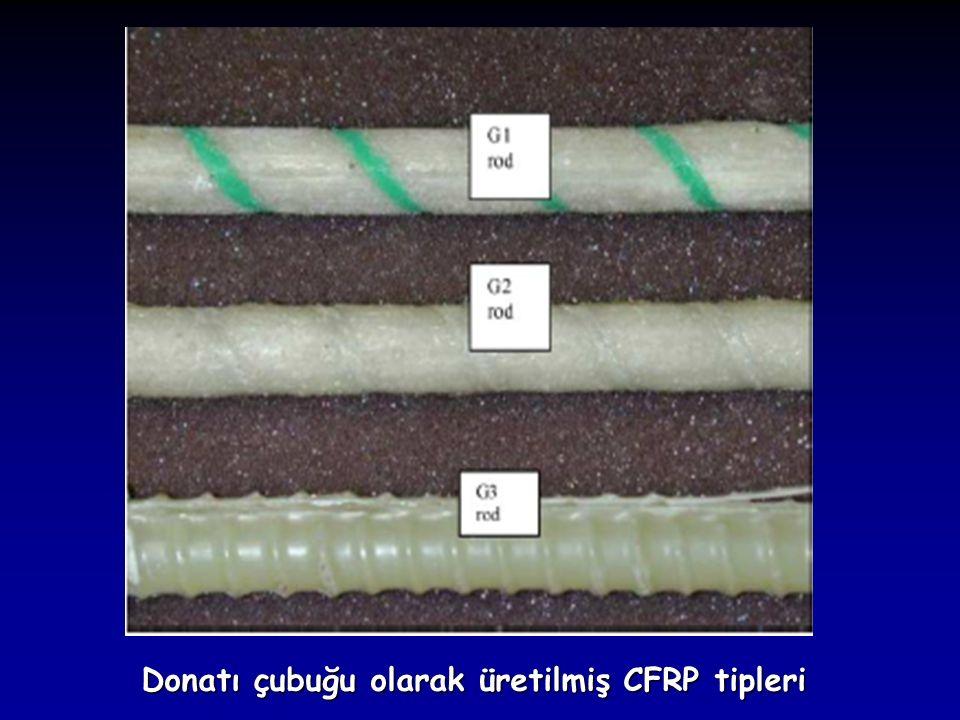 Donatı çubuğu olarak üretilmiş CFRP tipleri